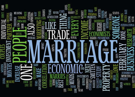 MARRIAGE AN ECONOMIC PERSPECTIVE Text Background Word Cloud Concept