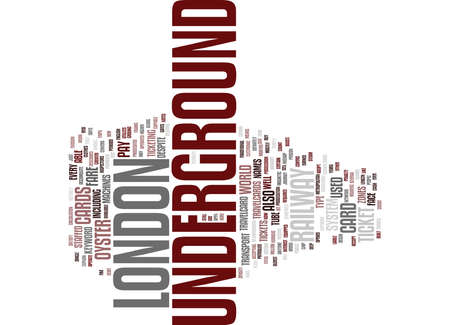 LONDON UNDERGROUND Text Background Word Cloud Concept