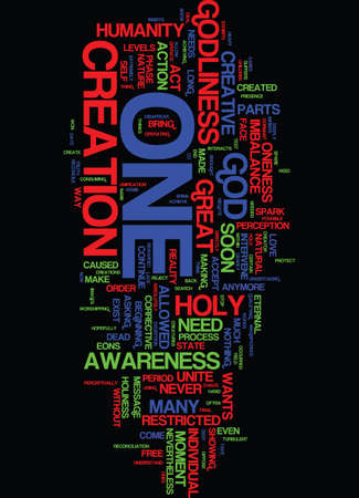 MESSAGE FROM THE HOLY ONE Text Background Word Cloud Concept