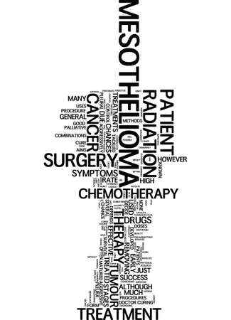 MESOTHELIOMA TREATMENT Text Background Word Cloud Concept Illustration