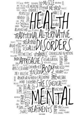 MENTAL HEALTH CARE Text Background Word Cloud Concept