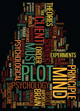 METAPHORS OF THE MIND PART II Text Background Word Cloud Concept