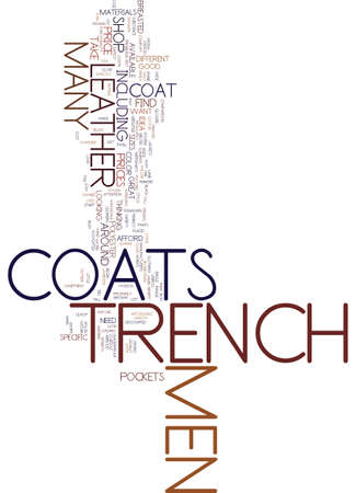 男性 S トレンチ コートが上品な顔と滞在暖かいテキストの背景単語クラウドのコンセプト