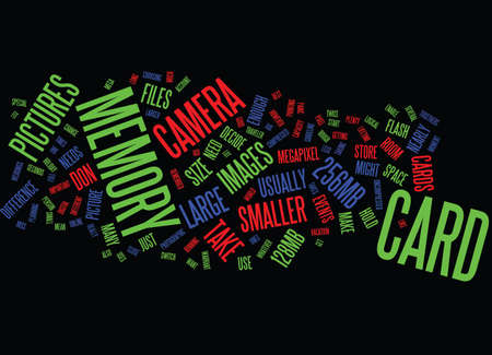 MEMORY CARDS Text Background Word Cloud Concept