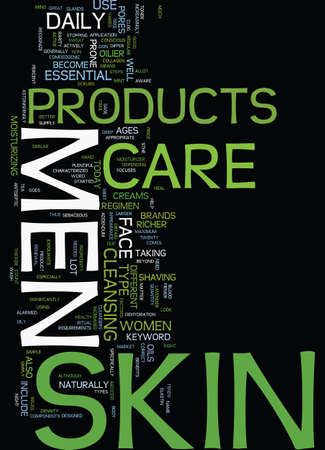 MENS SKIN CARE PRODUCTS Text Background Word Cloud Concept