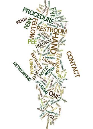 MEN S RESTROOM BEHAVIOR Text Background Word Cloud Concept