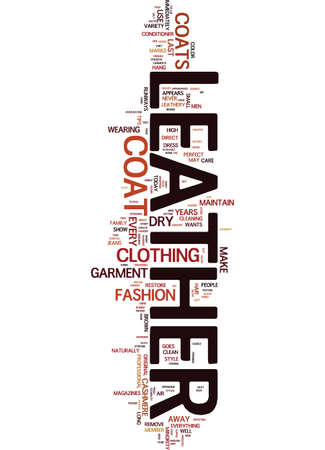MEN S LEATHER COATS Text Background Word Cloud Concept 向量圖像