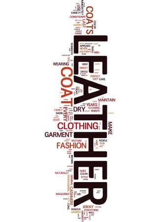 MEN S LEATHER COATS Text Background Word Cloud Concept Illusztráció
