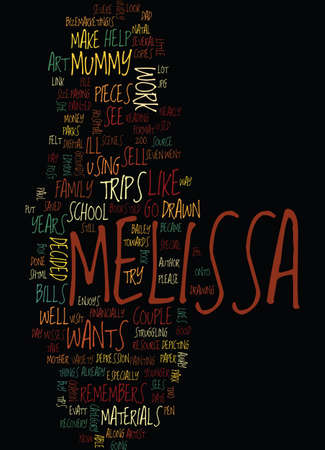 MELISSA S ART Text Background Word Cloud Concept