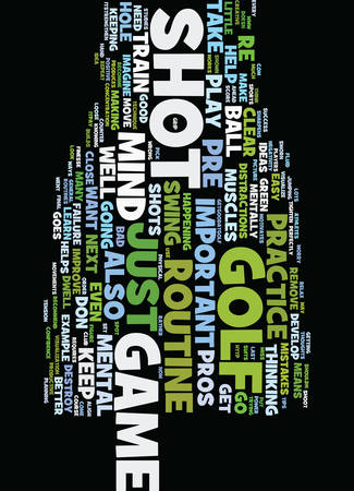 MENTAL TIPS TO IMPROVE YOUR GOLF GAME Text Background Word Cloud Concept