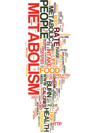 METABOLISM FOR THE FIT INDIVIDUAL Text Background Word Cloud Concept