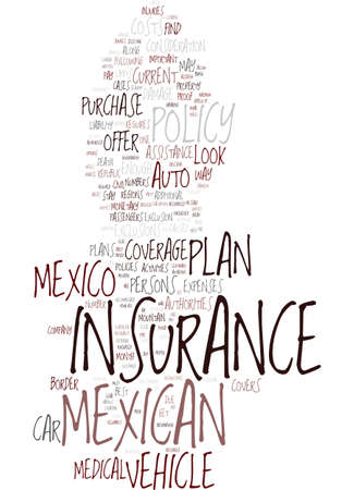 MEXICAN CAR INSURANCE THE BEST WAY TO BUY IT Text Background Word Cloud Concept