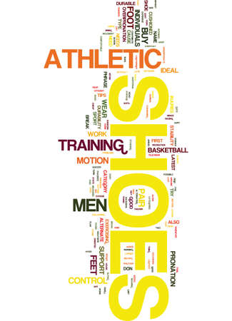 additional training: MENS ATHLETIC SHOES Text Background Word Cloud Concept