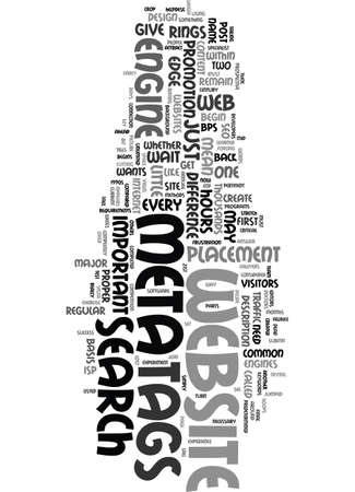 META TAGS CAN MAKE THE DIFFERENCE Text Background Word Cloud Concept