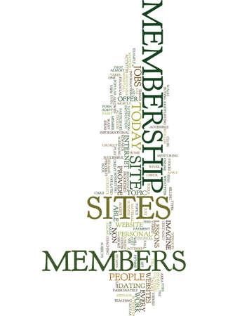 MEMBERSHIP SITES TODAY Text Background Word Cloud Concept Imagens - 82681571