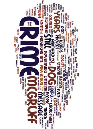 MESSAGE ON CRIME STILL STRONG AFTER YEARS Text Background Word Cloud Concept Ilustração