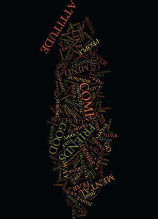 corpuscles: MENTAL ATTITUDE Text Background Word Cloud Concept