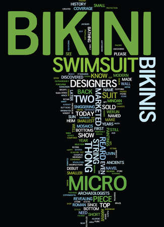 lay: MICRO BIKINI Text Background Word Cloud Concept