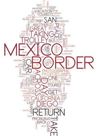 샌디에고에서의 멕시코 데이 트레일 글 텍스트 배경 워드 클라우드 개념
