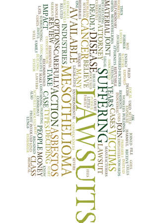 mesothelioma: MESOTHELIOMA LAWSUITS Text Background Word Cloud Concept