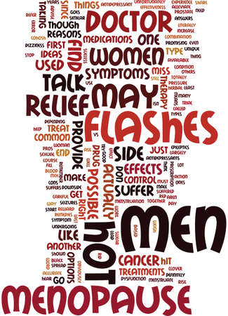 MEN AND MENOPAUSE EXPERIENCE SYMPTOMS THAT ARE SIMILAR Text Background Word Cloud Concept