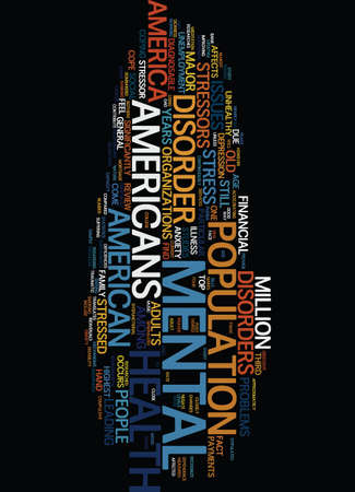 MENTAL HEALTH AMERICA Text Background Word Cloud Concept