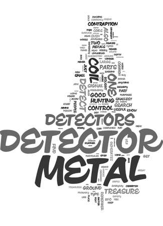 METAL DETECTOR PARTS Text Background Word Cloud Concept Stock Vector - 82792355