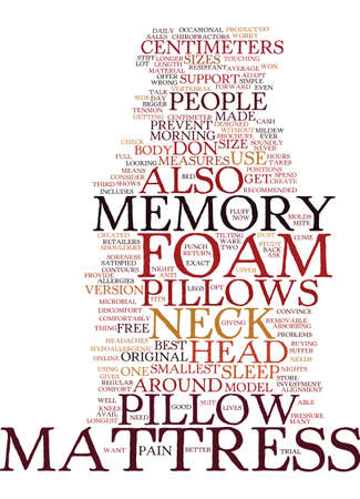 MEMORY FOAM MATTRESS PILLOWS Text Background Word Cloud Concept