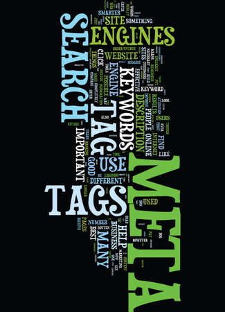 META TAG YOU RE IT HOW TO USE META TAGS EFFECTIVELY Text Background Word Cloud Concept