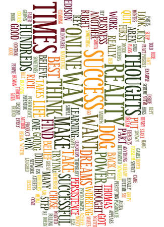 MENTAL ATTITUDE THE POWER OF YOUR THOUGHTS Text Background Word Cloud Concept