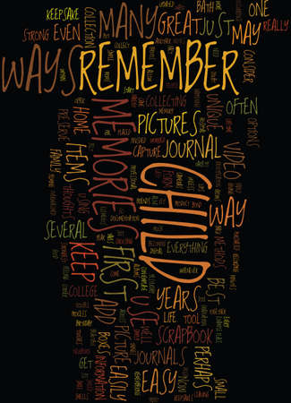 MEMORIES Text Background Word Cloud Concept