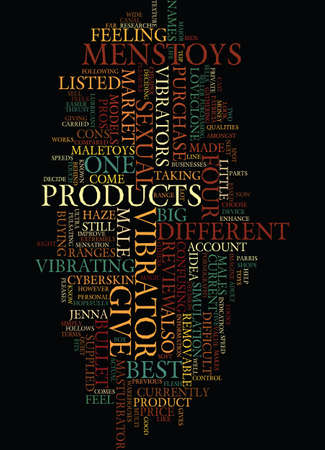 MENS SEX TOYS PRODUCT REVIEW Text Background Word Cloud Concept