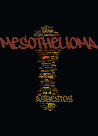 MESOTHELIOMA YOUR HEALTH IN JEOPARDY Text Background Word Cloud Concept