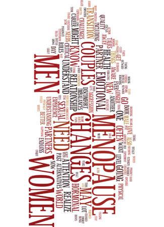更年期障害と女性 S 健康テキスト背景単語雲の概念