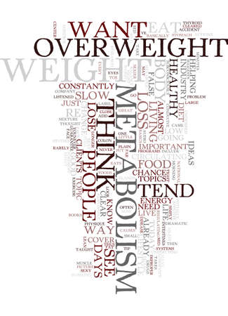 METABOLISM WHAT IS IT AND HOW CAN I CONTROL IT Text Background Word Cloud Concept Illusztráció