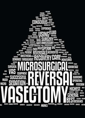 MICROSURGICAL VASECTOMY REVERSAL Text Background Word Cloud Concept