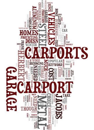 METAL CARPORT Text Background Word Cloud Concept Illusztráció