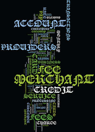 MERCHANT ACCOUNT FEES TO BUSINESS OWNERS Text Background Word Cloud Concept