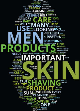 MEN SKIN CARE Text Background Word Cloud Concept