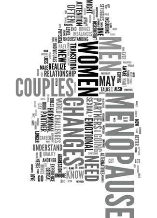 MENOPAUSE COUPLES Text Background Word Cloud Concept