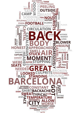 MEMORIES OF BARCELONA Text Background Word Cloud Concept Ilustrace