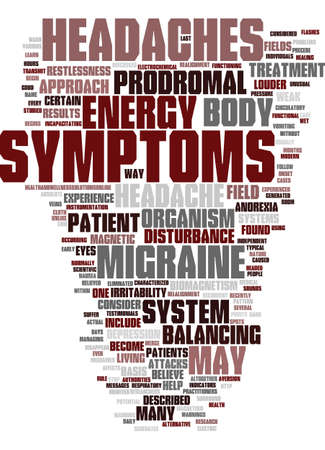 MIGRAINE HEADACHE TREATMENT Text Background Word Cloud Concept Иллюстрация