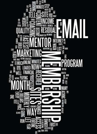MEMBERSHIP SITES THE FASTEST WAY TO MONTHLY RESIDUAL INCOME Text Background Word Cloud Concept