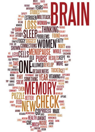 MEMORY AND MENOPAUSE Text Background Word Cloud Concept