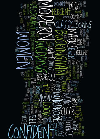 MODERN TIPS TO LOOK AND FEEL CONFIDENT IN A CRUNCH Text Background Word Cloud Concept