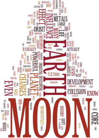 MOON FEVER Text Background Word Cloud Concept Ilustrace