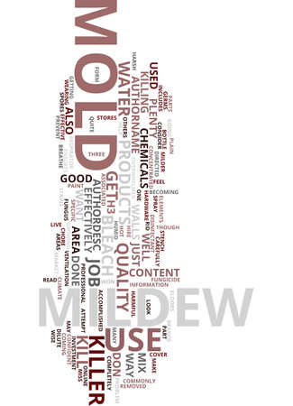 mildew: MOLD AND MILDEW KILLER Text Background Word Cloud Concept