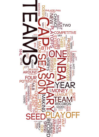 TEAM RECORD UNDER NO PROBLEM IN THE NBS Text Background Word Cloud Concept