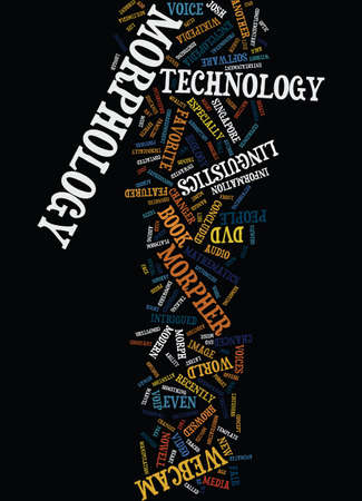 MORPHOLOGY THE NEW TECHNOLOGY JARGON Text Background Word Cloud Concept