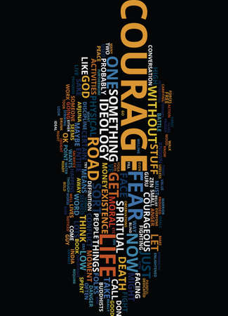 MORAL COURAGE Text Background Word Cloud Concept